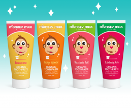 Monkey Max and Friends organic kids toothpaste